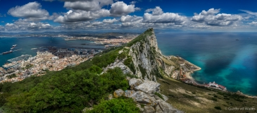 View on Gibraltar from above
