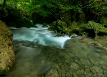 Fast streaming water in Northern Spain