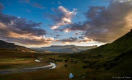 Sunrise at the Drakensbergen South-Africa