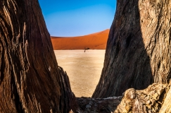 Look trough on the Deadvlei of Namibia