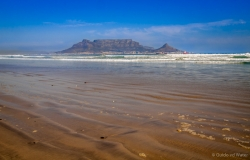 Table mountain from Bloubergstrand, South-Africa