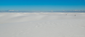 People in White sands national monument, U.S.