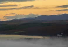 Mysterious sunrise above Loch Rannoch
